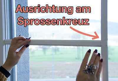 Fenstersprossen sprossenkreuz selbstklebend wei for Fenster 800x800