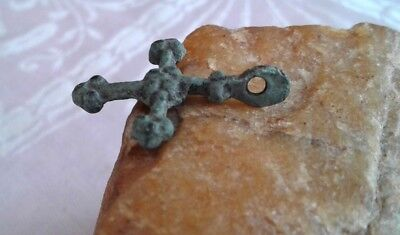 "MEDIEVAL VIKING-STYLE BRONZE ""BUDDED"" CROSS PENDANT 10-13th CENTURY 3"