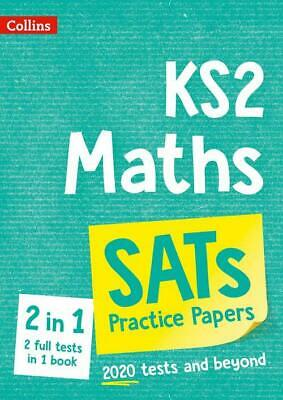 KS2 SATs MATHS 2 BOOK PRACTICE & EXAM PAPERS BUNDLE FROM 2020 EXAMS 2