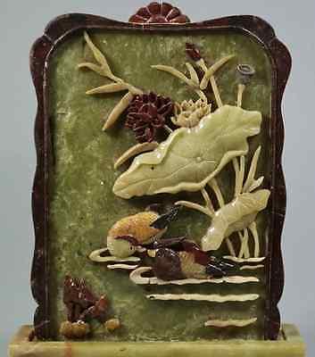 China Old  Ink Stone Screen shoushan stone 硯屏 /  KENBYO / Qing Dynasty 4
