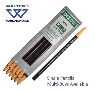 Dixon China Markers Chinagraph Wax Pencils for marking smooth surfaces - Singles 7