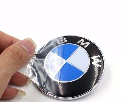 NEW 74mm Car Emblem Chrome Hood Badge Logo 2 Pins For BMW Rear Trunk 3