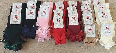 Spanish Socks Spanish Designer double Bow knee socks girl, baby FREE POSTAGE 4