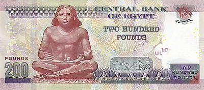 EGYPT 200 EGP POUNDS 2014  P-73a SIG// RAMEZ #23 NEW DESIGN start prefix 97 UNC