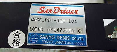 Sanyo Denki San Drive M/n Pdt-J01-101, Ac 100V, 0.2A, 35V Ac, 2.0A S/n 09147255 2