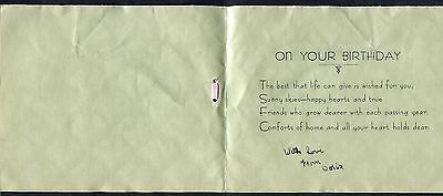 C1950s Illustrated Card 21st Birthday Card Cover with – How to Address a Birthday Card
