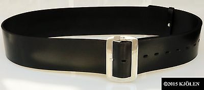 "Santa Claus Belt Bullhide Full Grain Leather 3"" In Christmas Pirate Gold Silver 3"