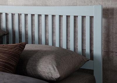 Hevea Hard Wood Bed Frame HONEY OAK Finish, OPAL WHITE, or GREY Finish Bedstead 6