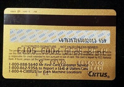 First Card Gold Visa exp 1999♡Free Shipping♡cc633♡ 2