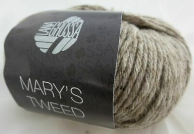 (€15,90/100g) Mary's Tweed  Lana Grossa 50g  Farbe 002 Taupe meliert 2
