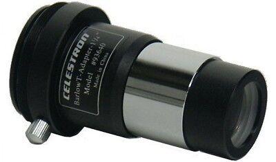 "Celestron 1.25"" Achromatic Camera T-adapter #93640 & 2x barlow lens (UK Stock) 2"