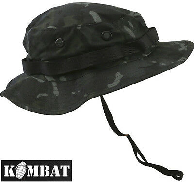 Combat US Military Army BTP Black Camo Wide Brimmed Jungle Boonie Hat Sun Hat