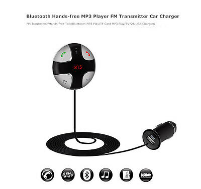 Handsfree Wireless Bluetooth FM Transmitter Car Kit Mp3 Player with USB Charger 4