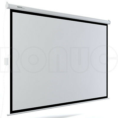 "120"" Inch Electric Motorised Projector Screen Home Theatre HD TV Projection 3D 7"