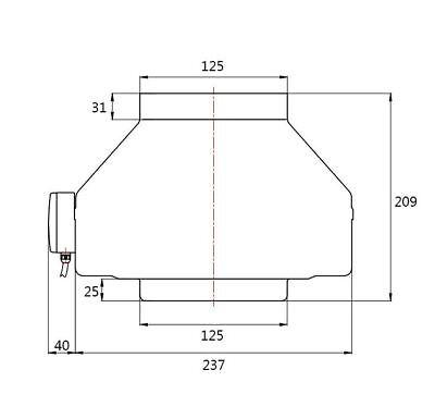 Rohrventilator Rohrlüfter Industrieventilator GERÄUSCHARM dalap® VPI Ø200mm 1202