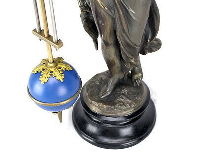 Beautiful Ansonia Cut 8 Day Movement Brass Huntress Lady Mystery Swinger Clock 10