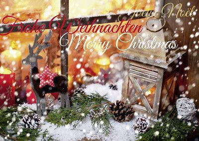 20 Weihnachtskarten Grußkarten Nostalgie Motiv 240 g//m² bedruckbar Mayspies 7822