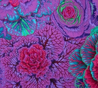 BLACK 1//2 Yard Kaffe Fassett Ferns Rowan Cotton Quilting Fabrics