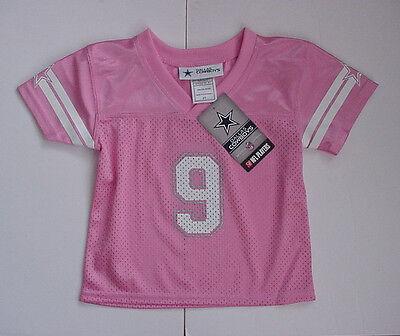 ... 1 of 5 NWT Tony Romo 9 Dallas Cowboy MESH Jersey Pink Glitter Toddler Sz  2T 3T 4T 2 0d0a2255b