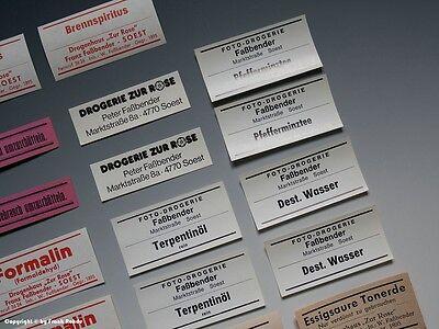 26 x Etiketten für Apotheken Flaschen aus SOEST um 1900-1970 3
