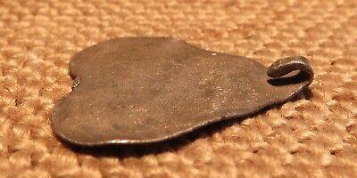 Old Silver Heart Amulet Scythian-Sarmatia 7-3 th Century B.C. ( 2.6 gr ) 5