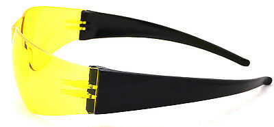 New Yellow Tinted Anti-Fog Motorcycle Sunglasses/Biker Wraps + Pouch Inc Postage 2