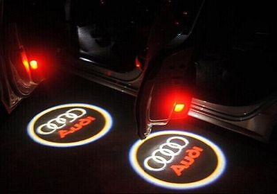 2x AUDI CREE LED PROJECTOR CAR DOOR LIGHTS SHADOW PUDDLE COURTESY LASER LOGO