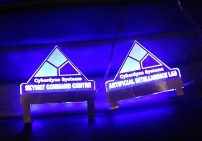 Terminator 2 T2 Pinball Lighted Ramp Signs PAIR mod RGB OR BLUE