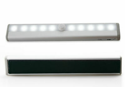 10 LED PIR Motion Sensor LED Night Light Battery Operated with Magnetic Strip 9