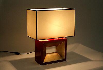 design tischlampe tischleuchte lackiert rot gold schwarz silber lampe leuchte eur 142 00. Black Bedroom Furniture Sets. Home Design Ideas