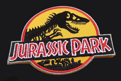 Jurassic Park Movie Logo Embroidered Iron-On Deluxe Patch Yellow New Patch 6
