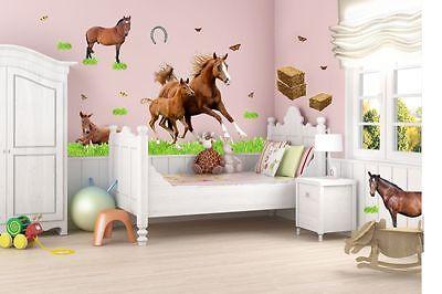 NIKIMA 003 WANDTATTOO Pferd mit Fohlen Pony reiten ...