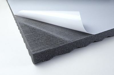 akustik schaumstoff platte pur sinus 30mm 5 0 m 10 platten selbstklebend eur 75 00. Black Bedroom Furniture Sets. Home Design Ideas