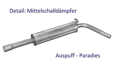 Abgasanlage kompl ab Kat Auspuff VW Polo IV 9N 1.2 bis Bj.11//2005+Kit 40/&47KW