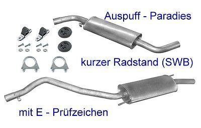 Benziner Kit Bus /& Kasten ab 1996 Endschalldämpfer Auspuff VW T4 7H 2.0 /& 2.5