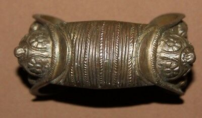 Antique Greek folk bronze woman fertility bracelet
