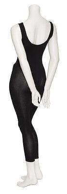 Girls Ladies Black Cotton Sleeveless Footless Catsuit Unitard All Sizes KDC056 4