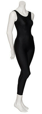 Ladies Girls Black Lycra Sleeveless Footless Catsuit Unitard KDC016 By Katz 4