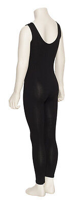 Girls Children Black Cotton Sleeveless Footless Catsuit Unitard KDC056 By Katz 4