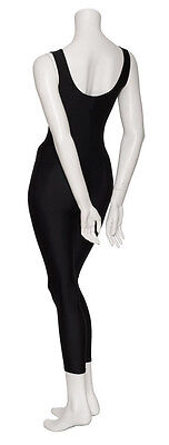 Ladies Girls Black Lycra Sleeveless Footless Catsuit Unitard KDC016 By Katz 5