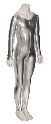 Girls All Colours Shiny Metallic Dance Fancy Dress Long Sleeve Catsuit KDC017 2