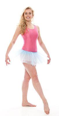 Da Ragazza Blu Pallido Balletto Danza Costume 3 Rete Strato Gonna Tutù Da Katz 3