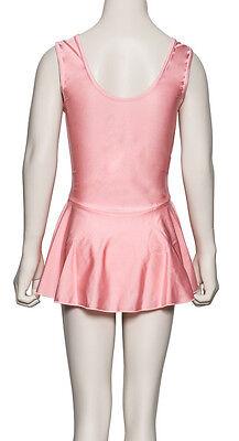 Girls Pink Lycra Ballet Dance Outfit Leotard With Skirt Dress KDR005 By Katz