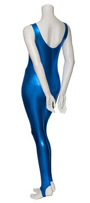 Royal Blue Shiny Metallic Dance Catsuit Unitard Katz Dancwear KDC011 SECONDS 2