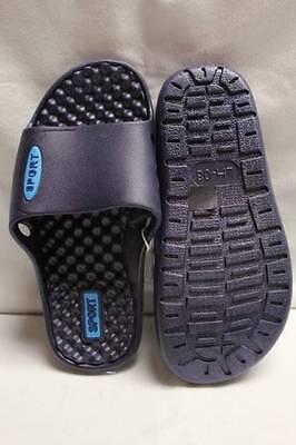 b91e3927 ... NEW Boys Flip Flops Sport Sandals Size 12 - 13 Medium Blue Kids Slides  Shoes 3