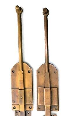 """4 flush BOLT french old age style doors furniture heavy brass slide 11"""" bolts B 2"""