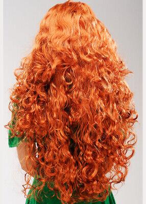 Womens Irish Leprechaun Long Curly Ginger Wig 3