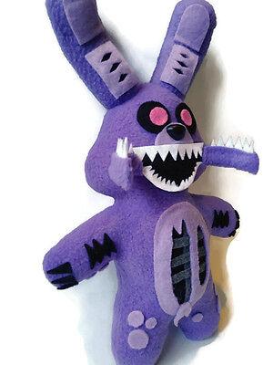 Fnaf ~Handmade Plush~Twisted Bonnie//Five Nights at Freddys 13 inch Plushie