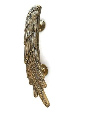 """2 ANGEL WINGS14"""" hollow brass door PULL Polished wings PULL handle 36 cm B 2"""