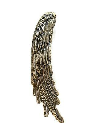 """2 ANGEL WINGS14"""" hollow brass door PULL Polished wings PULL handle 36 cm B 7"""